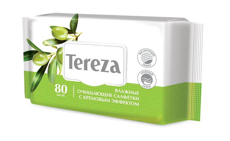 Tereza Влажные очищающие салфетки с кр. эф, 80 штMP59.4DВлажные салфетки Tereza с кремовым эффектом состоят из мягкого нетканого материала высокой плотности со специальной структурой соты, что позволяет обеспечить надежное очищение и деликатный массирующий эффект. В составе салфеток содержится оливковое масло и природный аллантоин, успокаивающие и увлажняющие кожный покров, смягчающие и снижающие риск возникновения раздражения. Большой размер салфетки (с ладонь человека) подходит для ухода за лежачими больными и за детьми. Количество в упаковке: 20 штук. Количество в упаковке: 80 штук. Наиболее подходящий для дома формат. Упаковка салфеток имеет клапан, предохраняющий салфетки от высыхания длительное время.