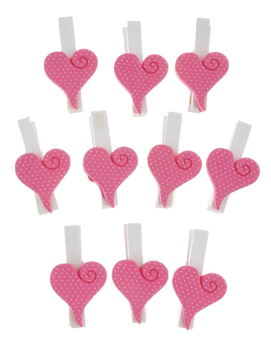 Набор декоративных прищепок Феникс-презент Сердечки, 10 штIRK-503Набор Феникс-презент Сердечки состоит из 10 декоративных прищепок,выполненных из дерева. Прищепки оформлены фигурками из полирезины в виде сердец.Изделия используются для развешивания стикеров на веревке и маленьких игрушек, аоригинальность и веселые цвета прищепок будут радовать глаз и поднимут настроение.Такой набор станет прекрасным дополнением к оформлению вашего интерьера.Длина прищепки: 4,5 см.Размер фигурки: 3 см х 2,5 см х 0,5 см.