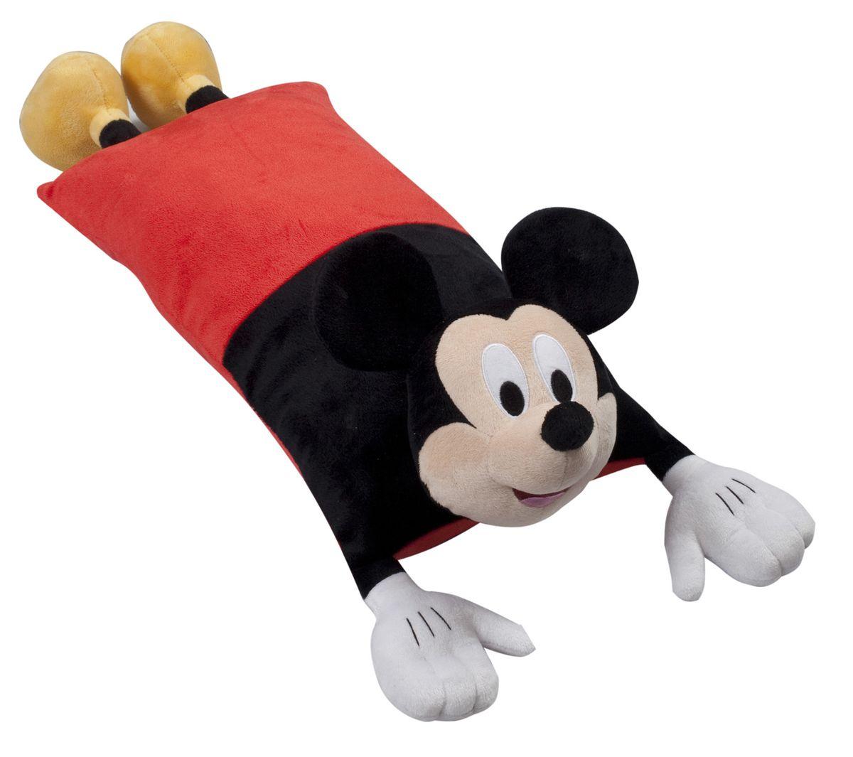 15545 Подушка Mickey Mouse (Микки Маус), размер 50х25 см531-105Детская декоративная подушка может использоваться в качестве элемента декора в вашем доме, ну и кроме того, быть настоящей игрушкой для вашего малыша. Данная текстильная продукция занимает высокие позиции на потребительском рынке благодаря своим оригинальным дизайнам и безопасным материалам.