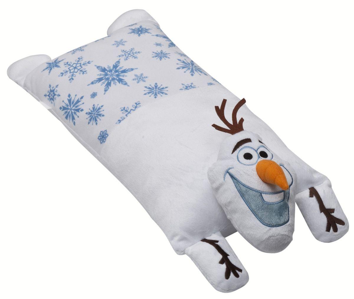 Disney Подушка детская Olaf 15640CLP446Детская декоративная подушка Disney Olaf может использоваться в качестве элемента декора в вашем доме, а также станет настоящей игрушкой для вашего малыша. Данная текстильная продукция занимает высокие позиции на потребительском рынке благодаря своему оригинальному дизайну и безопасным материалам.