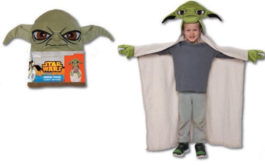 15671 Плед с капюшоном StarWars (Звёздные Войны) - Yoda, размер 100х100 см520018/3Детский плед с капюшоном – удивительная и многофункциональная вещь, от приобретения которой выиграют все. Родители, потому что получают для своих любимых чад тёплое и мягкое покрывальце. Дети, потому что мягкий плед может использоваться как накидка или пончо, а это отличная возможность преобразиться из мальчика или девочки в любимого героя. Данная текстильная продукция занимает высокие позиции на потребительском рынке благодаря своим оригинальным дизайнам и безопасным материалам.