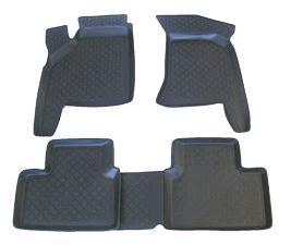 Коврики в салон автомобиля L.Locker, для ВАЗ 2110-12, 4 шт21395599Коврики L.Locker производятся индивидуально для каждой модели автомобиля из современного и экологически чистого материала. Изделия точно повторяют геометрию пола автомобиля, имеют высокий борт, обладают повышенной износоустойчивостью, антискользящими свойствами, лишены резкого запаха и сохраняют свои потребительские свойства в широком диапазоне температур (от -50°С до +80°С). Рисунок ковриков специально спроектирован для уменьшения скольжения ног водителя и имеет достаточную глубину, препятствующую свободному перемещению жидкости и грязи на поверхности. Одновременно с этим рисунок не создает дискомфорта при вождении автомобиля. Водительский ковер с предустановленными креплениями фиксируется на штатные места в полу салона автомобиля. Новая технология системы креплений герметична, не дает влаге и грязи проникать внутрь через крепеж на обшивку пола.
