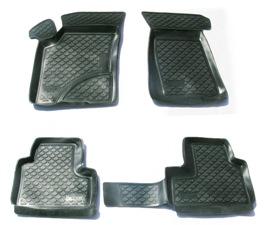 Коврики в салон автомобиля L.Locker, для Chevrolet Niva (02-), 4 штВетерок 2ГФКоврики L.Locker производятся индивидуально для каждой модели автомобиля из современного и экологически чистого материала. Изделия точно повторяют геометрию пола автомобиля, имеют высокий борт, обладают повышенной износоустойчивостью, антискользящими свойствами, лишены резкого запаха и сохраняют свои потребительские свойства в широком диапазоне температур (от -50°С до +80°С). Рисунок ковриков специально спроектирован для уменьшения скольжения ног водителя и имеет достаточную глубину, препятствующую свободному перемещению жидкости и грязи на поверхности. Одновременно с этим рисунок не создает дискомфорта при вождении автомобиля. Водительский ковер с предустановленными креплениями фиксируется на штатные места в полу салона автомобиля. Новая технология системы креплений герметична, не дает влаге и грязи проникать внутрь через крепеж на обшивку пола.