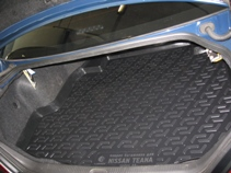 Коврик в багажник Nissan Teana sd (06-) полиуретанВетерок 2ГФКоврики производятся индивидуально для каждой модели автомобиля из современного и экологически чистого материала, точно повторяют геометрию пола автомобиля, имеют высокий борт от 4 см до 6 см., обладают повышенной износоустойчивостью, антискользящими свойствами, лишены резкого запаха, сохраняют свои потребительские свойства в широком диапазоне температур (-50 +80 С).