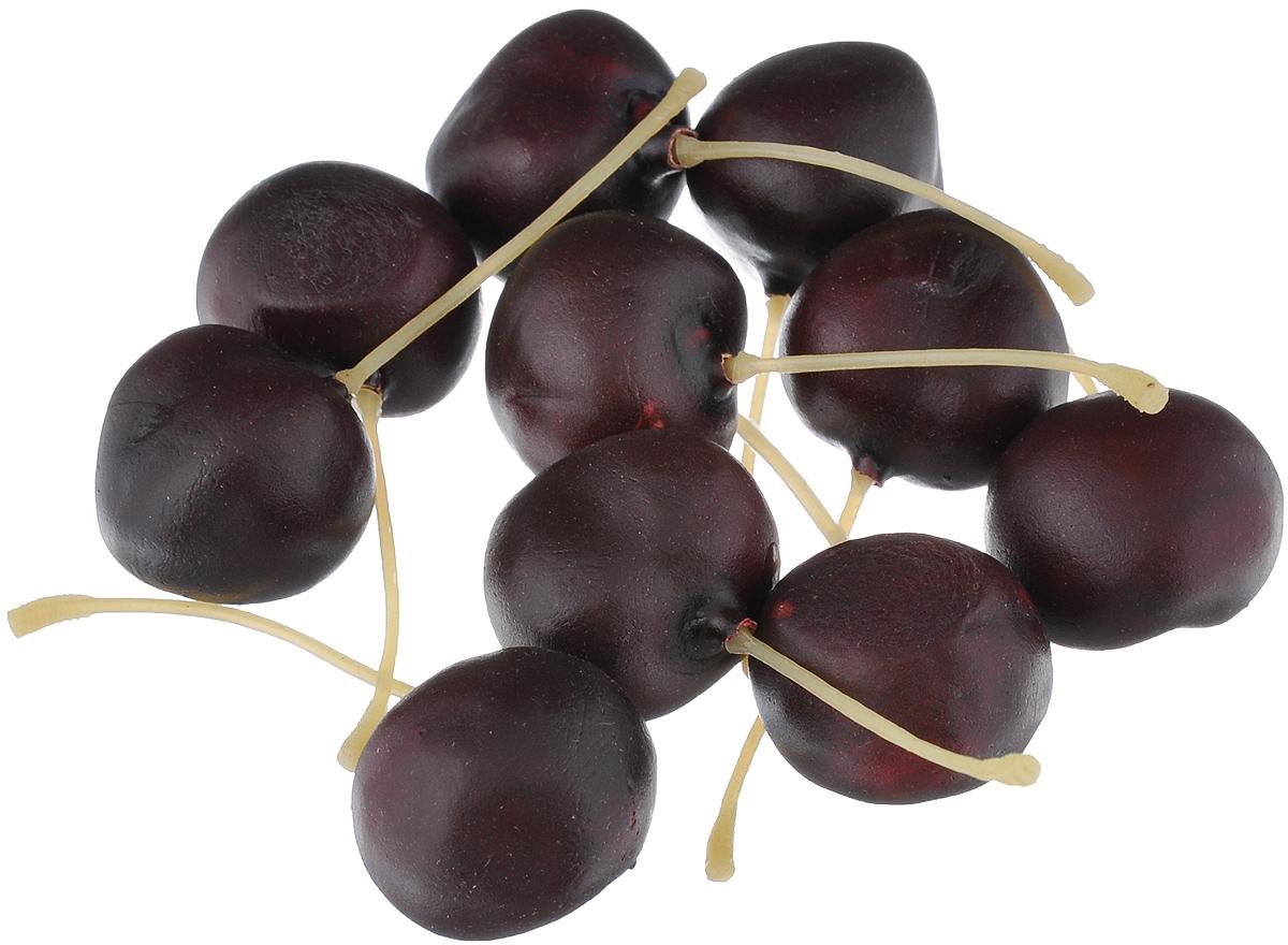 Муляж Вишня, цвет: темно-бордовый, 2,5 см, 10 шт54 009318Муляж Вишня изготовлен из полиуретана, окрашен в естественные цвета. Предназначен для украшения интерьера дома.Высота одной ягоды муляжа: 2,5 см.В наборе: 10 ягод.