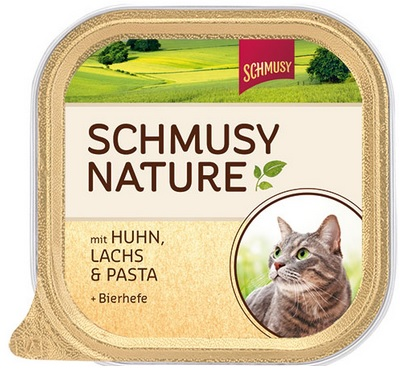 Консервы для кошек Шмуси курица с лососем, 100 г0120710Шмуси натура - это полноценная еда для кошек и котов с множеством натуральных ингредиентов. Корм Шмуси богат содержанием отборного мяса, потому что кошки - это настоящие хищники и нуждаются в пище, богатой белками. В этих ванночках маленькие кусочки мяса смешаны с паштетом. Кроме отборного мяса в состав входят пивные дрожжи, которые укрепляют имунную систему кошек. Также добавлен таурин для правильного развития организма кошек. Состав: Курица, лосось, отборное мясо, печень, мясные субпродукты, паств, пивные дрожжи, минеральные вещества. Условия хранения: комнатная температура в закрытом виде, после вскрытия до 2 дней в холодильнике.Особенности: Натуральные компоненты; Без сои, красителей, ароматизаторов, костной муки; Без консервантов Состав: Курица;Лосось;Мясо