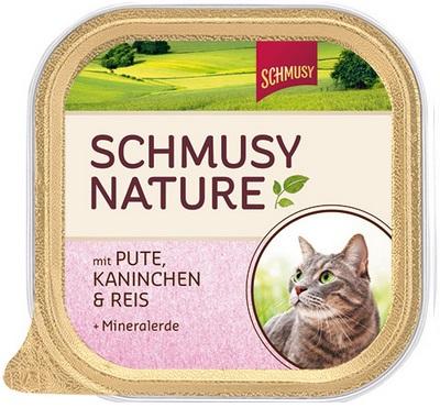 Консервы для кошек Schmusy, с индейкой и кроликом, 100 г0120710Консервы для кошек Schmusy - это полноценная еда с множеством натуральных ингредиентов для кошек и котов. Корм богат содержанием отборного мяса, потому что кошки - это настоящие хищники, они нуждаются в пище, богатой белками. В этих ванночках маленькие кусочки мяса смешаны с паштетом. Кроме отборного мяса в корм добавлена природная целебная глина, которая очень полезна для шерсти кошек. Также добавлен таурин для правильного развития организма кошек.Не содержит сои, красителей, ароматизаторов, костной муки, консервантов.Состав: отборное мясо, индейка - 20%, легкое, кролик - 10%, печень, субпродукты, рис - 4%, минеральные вещества. Гарантированный анализ: белок - 10,5%, жир - 5,5%, клетчатка - 0,3%, зола - 2%, влажность - 79%. Витамины и минералы: витамин B1 - 24 мг/кг, витамин B6 - 6 мг/кг, витамин D3 - 180 МЕ/кг, витамин E - 89 мг/кг, фолиевая кислота - 1,5 мг/кг, таурин - 590 мг/кг.Товар сертифицирован.