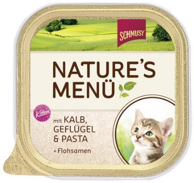 Консервы для котят Schmusy, с телятиной, птицей и лапшой, 100 г0120710Полнорационный корм Schmusy из натуральных ингредиентов создан в соответствии с потребностями в питании кошек. Содержит кусочки высококачественного, экологически чистого мяса, а вкусные добавки довершают натуральную рецептуру. Вкуснейшее меню обогащено сбалансированной смесью минеральных веществ, витаминов, таурином, а также рыбьим жиром для здорового роста и развития котенка. Щадящая обработка сохраняет максимум полезных веществ. Не содержит сою, красителей, консервантов. Состав: мясо и мясные субпродукты - 60% (в т.ч. птицы - 20%, телятины - 10%), лапша - 3%, семена подорожника - 0,1%, минералы. Гарантированный анализ: белок - 11%, жир - 6%, клетчатка - 0,5%, зола - 2%, влажность - 80%. Витамины и минералы: витамин D3 - 200 МЕ/кг, витамин E - 20 мг/кг, таурин - 500 мг/кг, медь - 2 мг/кг, марганец - 1,5 мг/кг, цинк - 5 мг/кг, йод - 0,5 мг/кг. Товар сертифицирован.