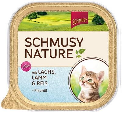 Консервы для котят Schmusy, с лососем и ягненком, 100 г24388Полнорационный корм Schmusy из натуральных ингредиентов создан в соответствии с потребностями в питании кошек. Содержит кусочки высококачественного, экологически чистого мяса, а вкусные добавки довершают натуральную рецептуру. Вкуснейшее меню обогащено сбалансированной смесью минеральных веществ, витаминов, таурином, а также рыбьим жиром для здорового роста и развития котенка. Щадящая обработка сохраняет максимум полезных веществ. Не содержит сою, красителей, консервантов. Состав: отборное мясо ягненка 20%, лосось 10%, легкое, печень, субпродукты, рис 4%, рыбий жир 0,5%, минеральные вещества. Гарантированный анализ: белое - 11%, жир - 6,5%, клетчатка - 0,3%, зола - 2%, влажность - 78%. Витамины и минералы: витамин E - 89 мг/кг, витамин B1 -24 мг/кг, витамин B6 - 6 мг/кг, фолиевая кислота - 1,5 мг/кг, витамин D3 - 180 ед/кг, таурин - 590 мг/кг. Товар сертифицирован.