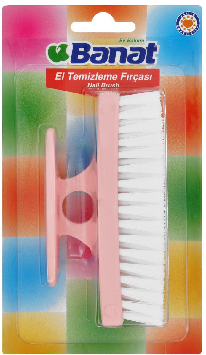 Щетка для рук Banat, цвет: розовыйSATURN CANCARDЩетка для рук Banat изготовлена из пластика. Мягкая удлиненная щетина бережно очищает ногти и руки, если вы работали без перчаток с сильными загрязнениями. Можно использовать для удаления загрязнений с одежды перед стиркой, для нанесения пятновыводителя. Мягкая щетина не повреждает поверхность. Размер рабочей поверхности: 11 см х 3 см. Длина щетины: 2 см.