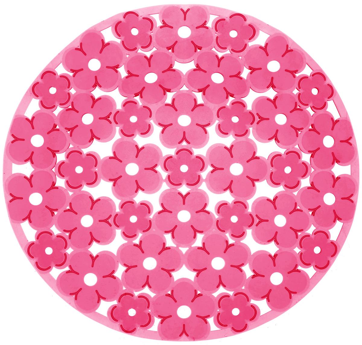 Коврик для раковины Metaltex, цвет: красный, диаметр 30 см54 009312Стильный и удобный коврик для раковины Metaltex выполнен из ПВХ. Он одновременно выполняет несколько функций: украшает, предотвращает появление на раковине царапин и сколов, защищает посуду от повреждений при падении в раковину, удерживает мусор, попадание которого в слив приводит к засорам. Изделие также обладает противоскользящим эффектом и может использоваться в качестве подставки для сушки чистой посуды. Легко очищается от грязи и жира.Диаметр: 30 см.