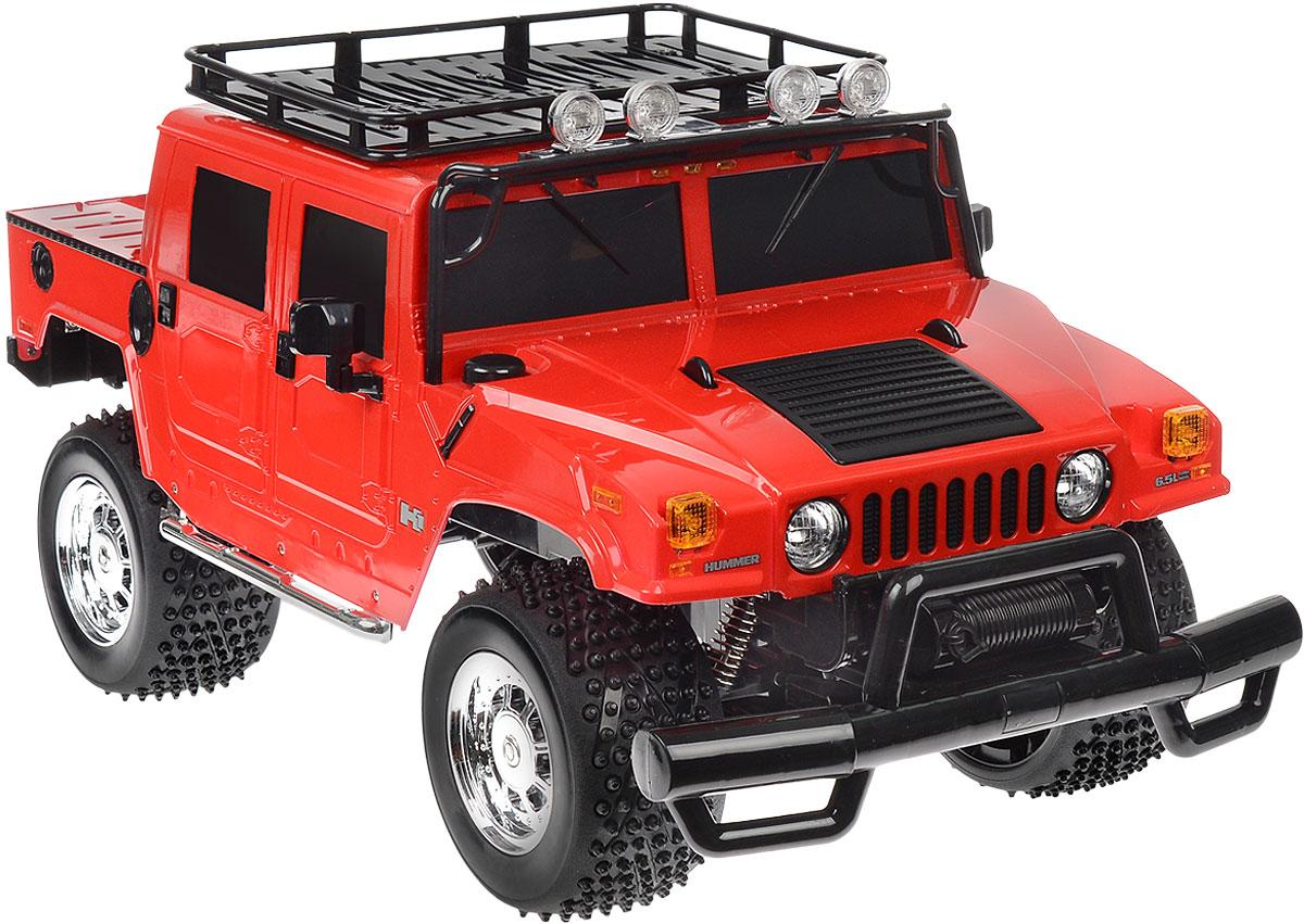 """Радиоуправляемая модель Rastar """"Hummer H1 Sut"""" станет отличным подарком любому мальчику! Все дети хотят иметь в наборе своих игрушек ослепительные, невероятные и крутые автомобили на радиоуправлении. Тем более, если это автомобиль известной марки с проработкой всех деталей, удивляющий приятным качеством и видом. Одной из таких моделей является автомобиль на радиоуправлении Rastar """"Hummer H1 Sut"""". Это точная копия настоящего авто в масштабе 1:6. Возможные движения: вперед, назад, вправо, влево, остановка. Имеются световые эффекты. Пульт управления работает на частоте 40 MHz. Игрушка работает на сменном аккумуляторе (входит в комплект). Для работы пульта управления необходима 1 батарейка 9V (6F22) (не входит в комплект)."""