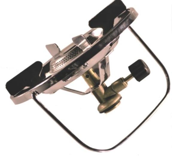 Горелка газовая СЛЕДОПЫТ Горящая Чаша67742Практичная, надежная и предельно простая в обращении газовая горелка. Имеет усиленный монолитный каркас и дополнительные ребра жесткости. Хорошо подходит для посуды с диаметром варочной поверхности до 25 см. При этом нагрузка на поверхность плиты может достигать 20 кг. и ограничивается только допустимой предельной грузоподъемностью газовых баллонов на которые плита установлена.Сама горелка развивает мощность порядка 1,5 кВт. И благодаря своим характеристикам может быть использована для приготовления пищи для небольших группах путешественников (до 5-ти – 6-ти человек). Для питания плиты используются газовые смеси в баллонах FG-230 и FG-450 с резьбовым клапаном, а также баллоны FG-220 нажимного типа с цанговым патроном используя переходник PF-GSA-02 (поставляется отдельно). Для розжига горелки вы можете использовать спички, зажигалку или автономный пьезоэлектрический розжиг. ХАРАКТЕРИСТИКИ:Мощность горелки: 1,5 кВт.Диаметр горелки: 50 см.Вес горелки: 295 гр.Размер в походном положении: 160 х 170 х 100 мм.Макс. диаметр используемой посуды: 250 мм.Максимальная вертикальная нагрузка: 5 кг (5 л. воды).
