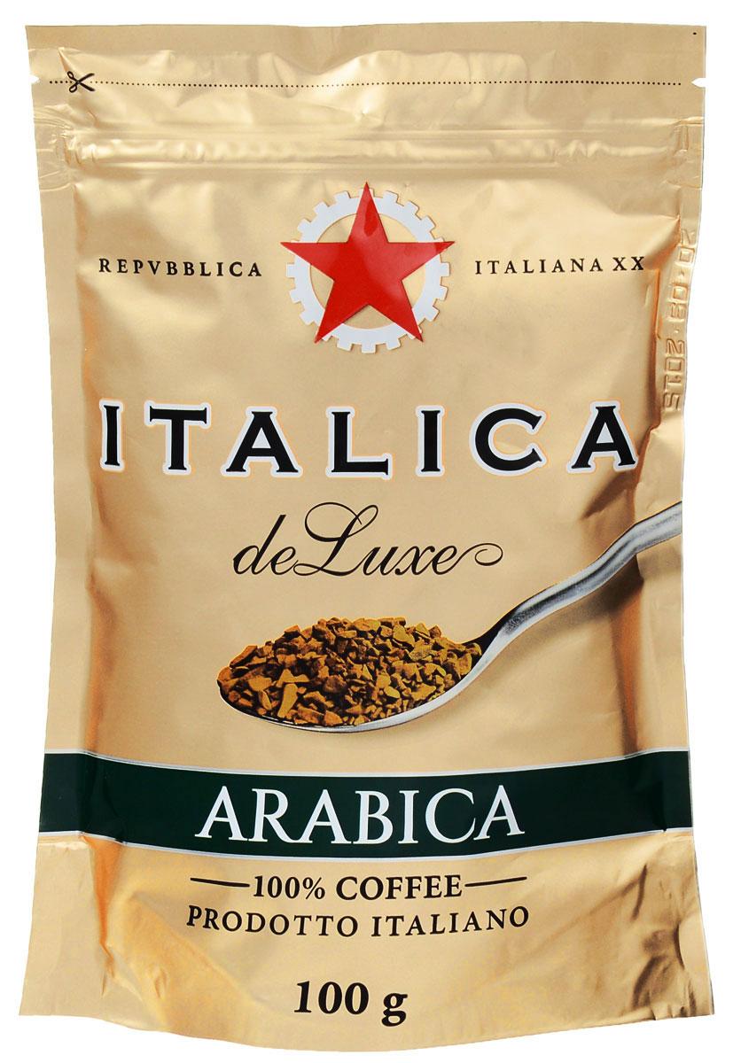 Italica de Luxe кофе растворимый, 100 г8057288870100Italica de Luxe создан мастерами старой школы с уважением к итальянским кофейным традициям. Богатую палитру его вкуса составляют лучшие кофейные зерна Бразилии, Кении, Центральной Америки, Мексики и Ямайки. Попробуйте традиционный кофе - шедевр итальянского кофейного искусства.