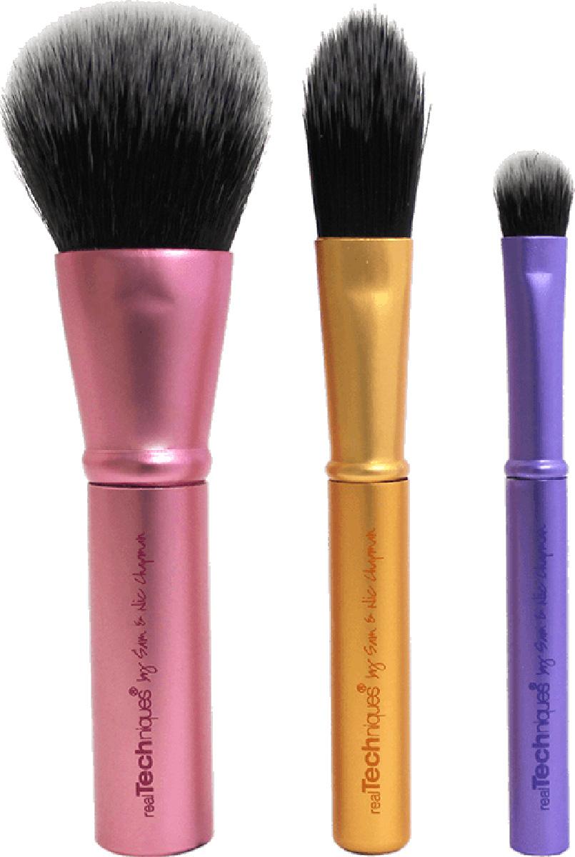 Real Techniques Набор мини кистей Mini Brush Trio1416МReal Techniques Mini brush trio - Дорожный мини-набор кистейMini Brush Trio – набор мини-кистей для макияжа. Идеален для повседневного использования. Поможет создать красивый макияж и дома и в поездке.В набор входят:Mini face brush - мини-кисть для лица (румяна, бронзер, пудра). Общая длина - 9,8 см, ворс - 2,5 см.Mini foundation brush - мини-кисть для основы. Общая длина - 8,8 см, ворс - 2,3 см.Mini shading brush - мини-кисть для теней. Общая длина - 7 см, ворс - 1 см.Мини упаковка для хранение кистей. Материал: искусственный ворс - таклон ручной набивки и стрижки (не вызывают аллергии, гигиеничен, легко моется, быстро сохнет).Металлическая ручка для удобного использования.