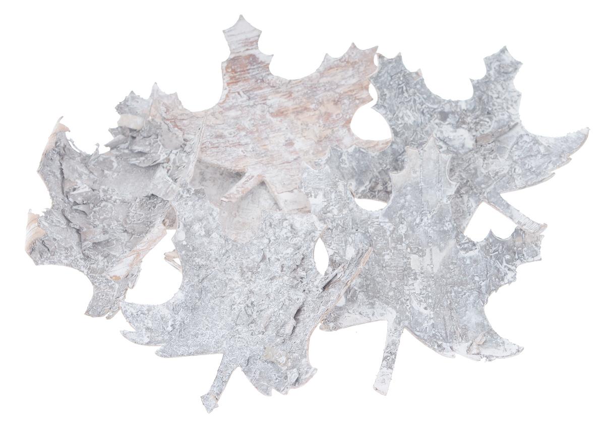 Декоративный элемент Dongjiang Art, цвет: белый, 6 шт. 770901398296075Декоративные элементы Dongjiang Art, изготовленные из натуральной коры дерева в виде кленовых листов, предназначены для украшения цветочных композиций. Такие элементы могут пригодиться во флористике и многом другом.Флористика - вид декоративно-прикладного искусства, который использует живые, засушенные или консервированные природные материалы для создания флористических работ. Это целый мир, в котором есть место и строгому математическому расчету, и вдохновению.Средний размер элементов: 8,5 см х 10 см.