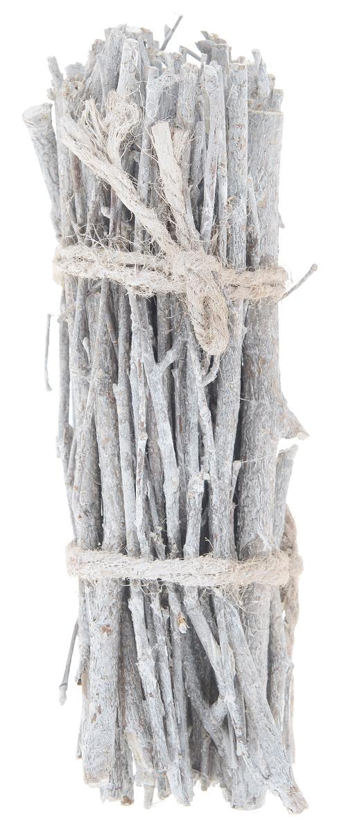 Декоративный элемент Dongjiang Art, цвет: белый, длина 20 см. 770902855052Декоративный элемент Dongjiang Art, изготовленный из натурального дерева, предназначен для декорирования. Изделие представляет собой связку хвороста и может пригодиться во флористике.Флористика - вид декоративно-прикладного искусства, который использует живые, засушенные или консервированные природные материалы для создания флористических работ. Это целый мир, в котором есть место и строгому математическому расчету, и вдохновению, полету фантазии. Длина веток: 20 см. Средняя толщина веток: 5 мм.