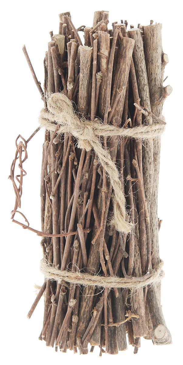 Декоративный элемент Dongjiang Art, цвет: натуральное дерево, длина 20 см. 77090287709028_нат/деревоДекоративный элемент Dongjiang Art, изготовленный из натурального дерева, предназначен для декорирования. Изделие представляет собой связку хвороста и может пригодиться во флористике.Флористика - вид декоративно-прикладного искусства, который использует живые, засушенные или консервированные природные материалы для создания флористических работ. Это целый мир, в котором есть место и строгому математическому расчету, и вдохновению, полету фантазии. Длина веток: 20 см. Средняя толщина веток: 5 мм.