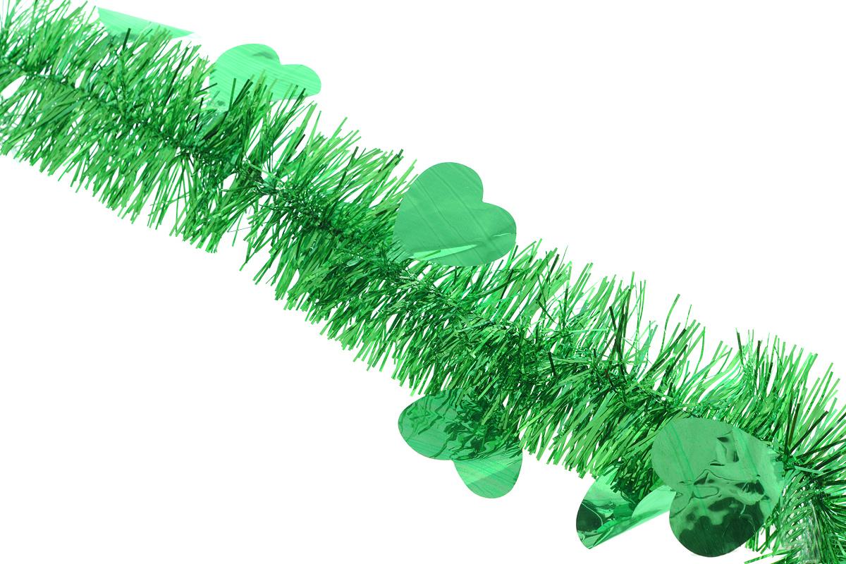 Мишура новогодняя Sima-land, цвет: зеленый, диаметр 8 см, длина 200 см. 7025961117833Новогодняя мишура Sima-land, выполненная из фольги с дизайном в виде сердечек, поможет вам украсить свой дом к предстоящим праздникам. А новогодняя елка с таким украшением станет еще наряднее. Мишура армирована, то есть имеет проволоку внутри и способна сохранять приданную ей форму. Новогодней мишурой можно украсить все, что угодно - елку, квартиру, дачу, офис - как внутри, так и снаружи. Можно сложить новогодние поздравления, буквы и цифры, мишурой можно украсить и дополнить гирлянды, можно выделить дверные колонны, оплести дверные проемы. Коллекция декоративных украшений из серии Зимнее волшебство принесет в ваш дом ни с чем несравнимое ощущение праздника! Создайте в своем доме атмосферу тепла, веселья и радости, украшая его всей семьей.