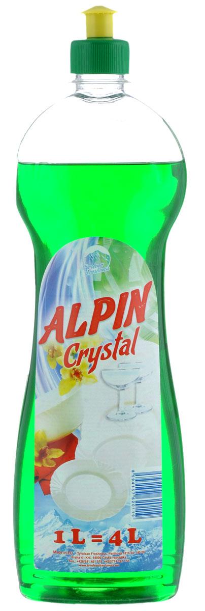 Средство для мытья посуды Alpin Crystal, 1 л654199Средство для мытья посуды Alpin Crystal - это высокоэффективное моющее средство, созданное на основе экологически чистых ПАВ. Насыщенная минеральными ионами нежная пена моментально расщепляет стойкие жировые и масляные загрязнения, увеличивая эффективность их удаления. Прекрасно очищает и удаляет жиры, не оставляет химикатов на посуде. Не вызывает раздражений и аллергических реакций, что позволяет мыть посуду без перчаток. Не содержит нефтепродуктов.Подходит для использования в домах с автономной канализацией. Не наносит вреда любым видам септиков!Состав: менее 5% анионные тензиды, промежуточный тензид, парфюм, краситель, консервирующая добавка.Товар сертифицирован.