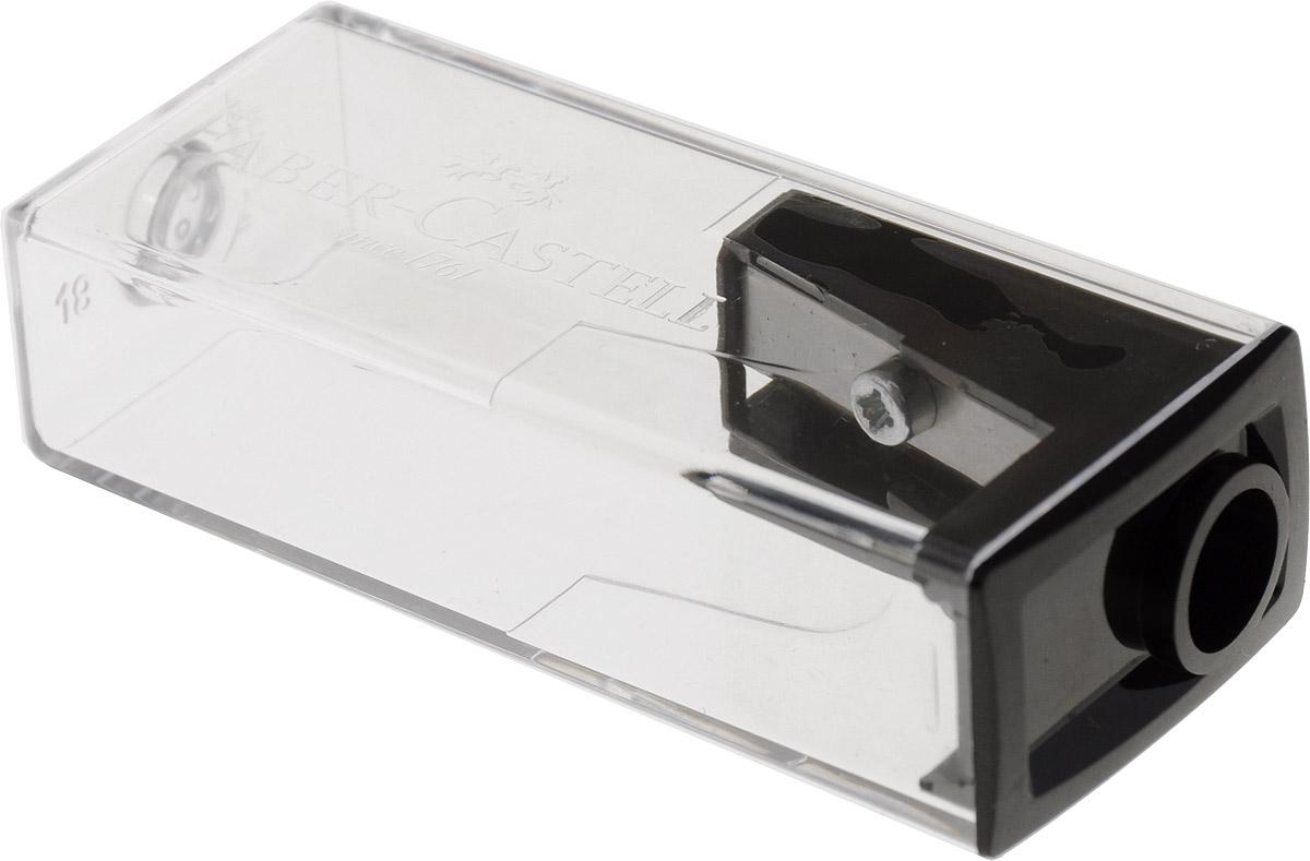 Faber-Castell Точилка с контейнером цвет черный72523WDТочилка Faber-Castell предназначена для затачивания карандашей диаметром 8 мм. Прозрачный контейнер позволяет определить уровень заполнения и вовремя произвести очистку. Острые стальные лезвия обеспечивают высококачественную и точную заточку деревянных карандашей.