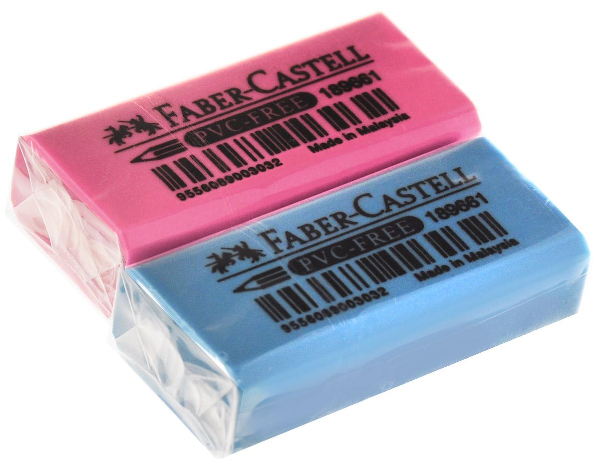 Faber-Castell Ластик флуоресцентный цвет розовый голубой 2 штFS-36052Ластик флуоресцентный Faber-Castell станет незаменимым аксессуаром на рабочем столе не только школьника или студента, но и офисного работника. Аккуратный и не оставляет грязных разводов. Кроме того высококачественный ластик не содержит ПВХ. Не повреждает бумагу даже при многократном стирании.