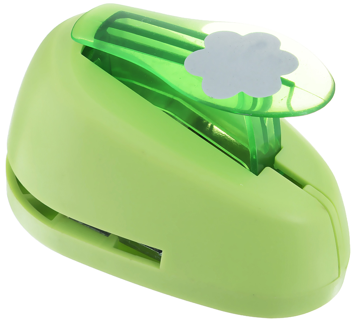 Дырокол фигурный Hobbyboom Цветок, №3, цвет: зеленый, 2,5 смFS-00897Дырокол фигурный Hobbyboom Цветок, выполненный из прочного пластика и металла, используется в скрапбукинге для украшения открыток, карточек, коробочек и прочего.Применяется для прорезания фигурных отверстий в бумаге в форме цветов. Вырезанный элемент также можно использовать для украшения.Предназначен для бумаги плотностью от 80 до 200 г/м2. При применении на бумаге большей плотности или на картоне, дырокол быстро затупится. Чтобы заточить нож компостера, нужно прокомпостировать самую тонкую наждачку. Размер дырокола: 4,7 см х 8 см х 5,5 см.Диаметр готовой фигурки: 2,5 см.