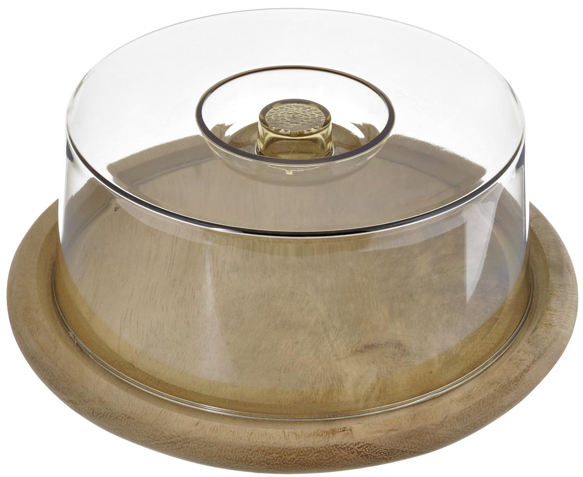 Колпак для хлеба и сыра Kesper, диаметр 23 см. 5664-121395599Колпак для хлеба и сыра Kesper представляет собой круглое деревянное основание и прозрачную пластиковую крышку. Основание можно использовать в качестве разделочной доски, здесь удобно нарезать хлеб, сыр и другие продукты, а после нарезки пищу не обязательно перекладывать в другую посуду, можно просто накрыть крышкой, убрать в холодильник или оставить на столе. Крышка предотвратит заветривание и сохранит пищу свежей. Диаметр основания: 23 см. Высота изделия (с крышкой): 8,5 см.