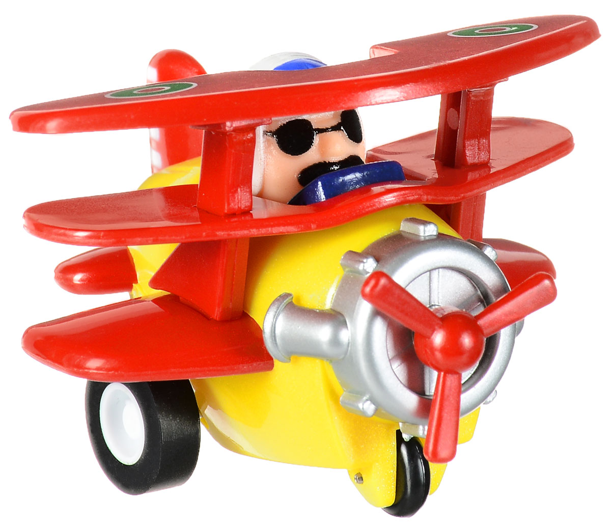 Hans Самолет инерционный цвет красный желтый