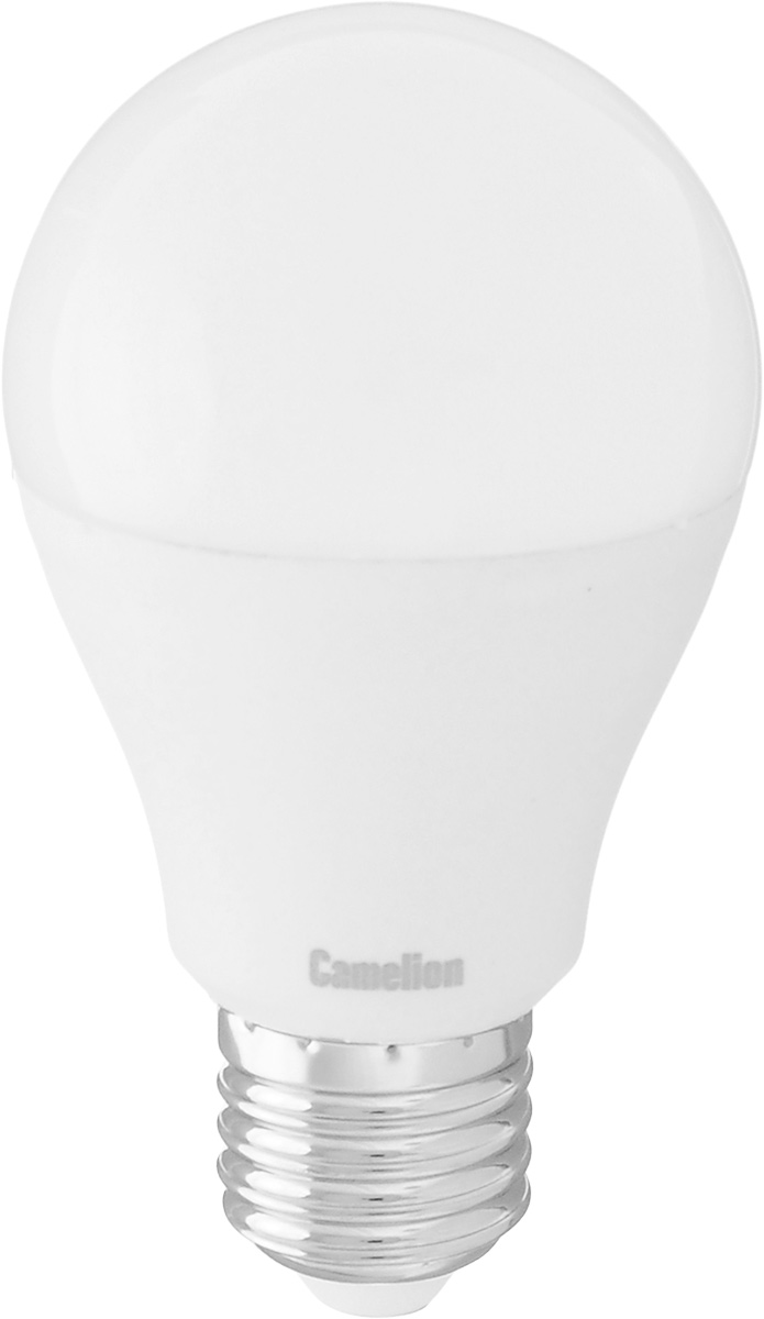 Лампа светодиодная Camelion, теплый свет, цоколь Е27, 7W7-A60/830/E27Энергосберегающая лампа Camelion - это инновационное решение, разработанное на основе новейших светодиодных технологий (LED) для эффективной замены любых видов галогенных или обыкновенных ламп накаливания во всех типах осветительных приборов. Она хорошо подойдет для освещения квартир, гостиниц и ресторанов. Лампа не содержит ртути и других вредных веществ, экологически безопасна и не требует утилизации, не выделяет при работе ультрафиолетовое и инфракрасное излучение. Напряжение: 220-240 В / 50 Гц.Индекс цветопередачи (Ra): 82+.Угол светового пучка: 220°. Использовать при температуре: от -30° до +40°.