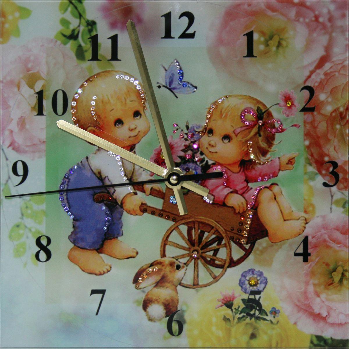 1658 Часы СваровскиПотехе час1658Часы без багета, инкрустированные кристалами Сваровски.