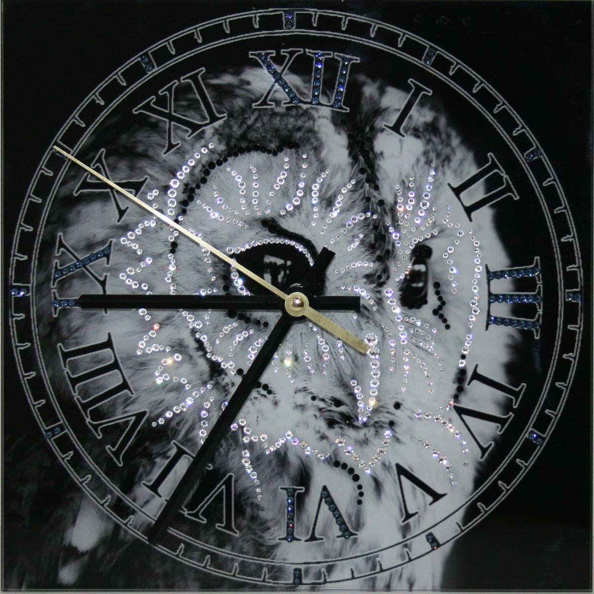 1651 Часы Сваровски Зоркий взгляд1651Часы без багета, инкрустированные кристалами Сваровски.