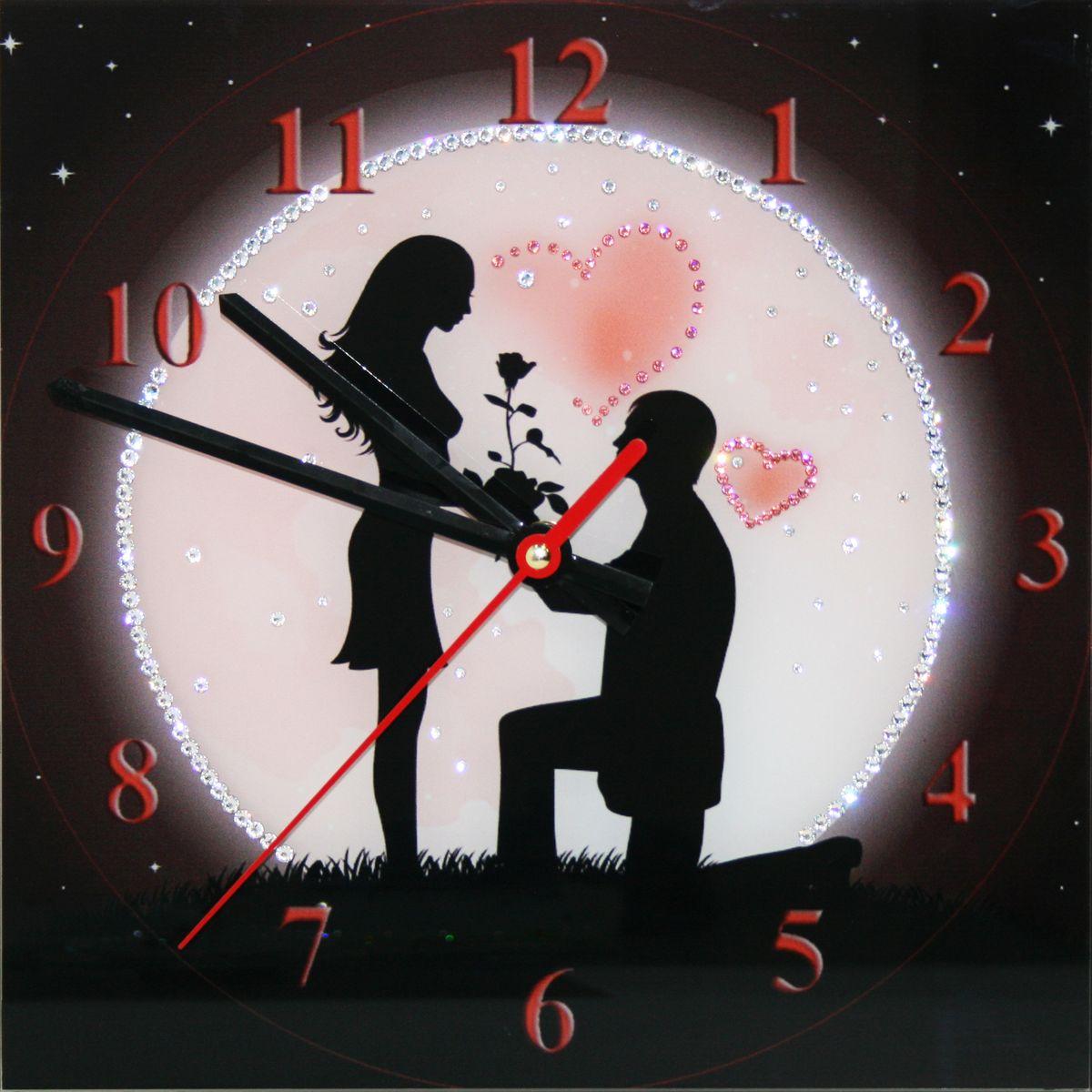 1649 Часы СваровскиПод луной37385Часы без багета, инкрустированные кристалами Сваровски.