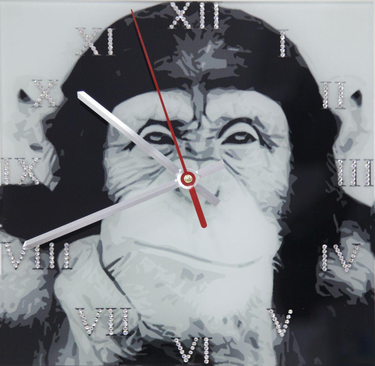 1670 Часы Сваровски Обезьяна1670Часы без багета, инкрустированные кристалами Сваровски.