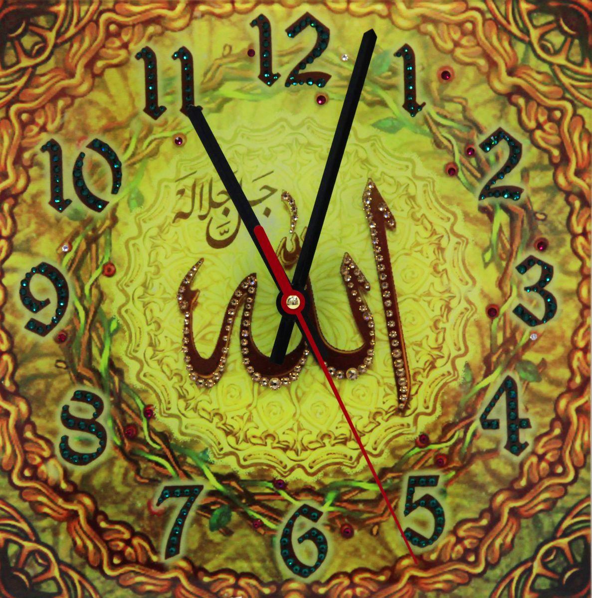 1667 Часы СваровскиАллах солнечный1667Часы без багета, инкрустированные кристалами Сваровски.