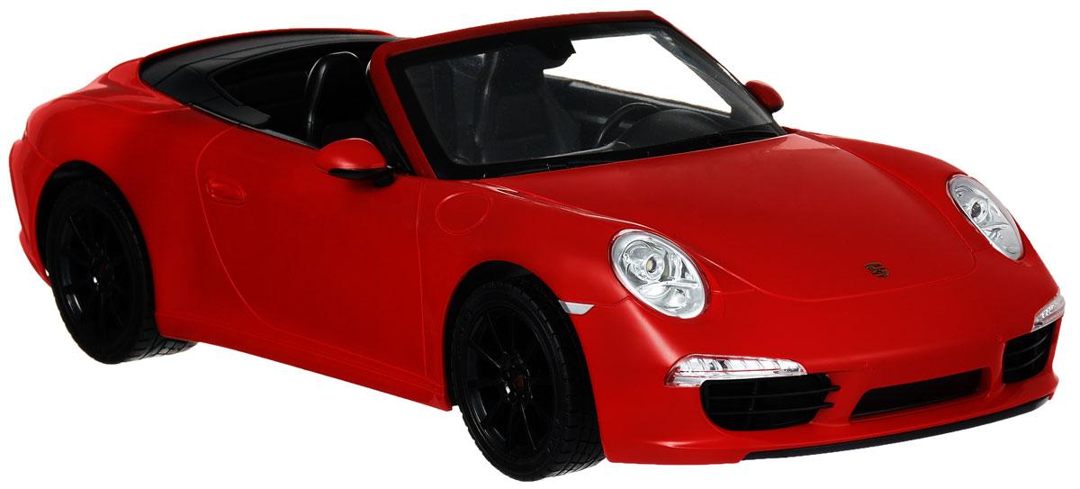 """Радиоуправляемая модель Rastar """"Porsche 911 Carrera S"""" станет отличным подарком любому мальчику! Все дети хотят иметь в наборе своих игрушек ослепительные, невероятные и крутые автомобили на радиоуправлении. Тем более, если это автомобиль известной марки с проработкой всех деталей, удивляющий приятным качеством и видом. Одной из таких моделей является автомобиль на радиоуправлении Rastar """"Porsche 911 Carrera S"""". Это точная копия настоящего авто в масштабе 1:12. Авто обладает неповторимым провокационным стилем и спортивным характером. Потрясающая маневренность, динамика и покладистость - отличительные качества этой модели. Возможные движения: вперед, назад, вправо, влево, остановка. Имеются световые эффекты. Пульт управления работает на частоте 27 MHz. Для работы игрушки необходимы 5 батареек типа АА (не входят в комплект). Для работы пульта управления необходима 1 батарейка 9V (6F22) (не входит в комплект)."""