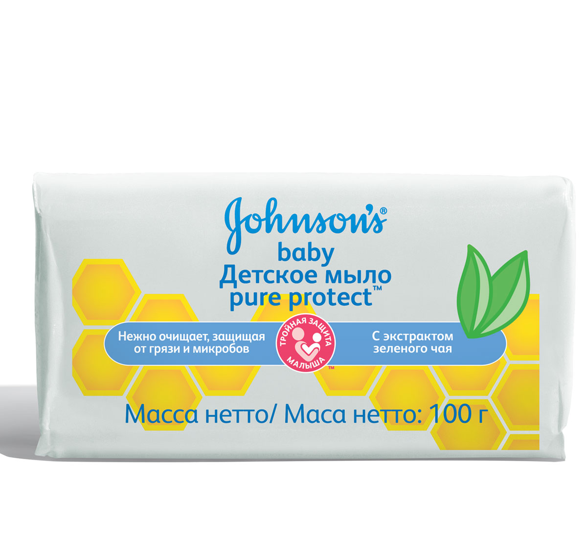 Johnson's baby Pure Protect Детское мыло 100 г