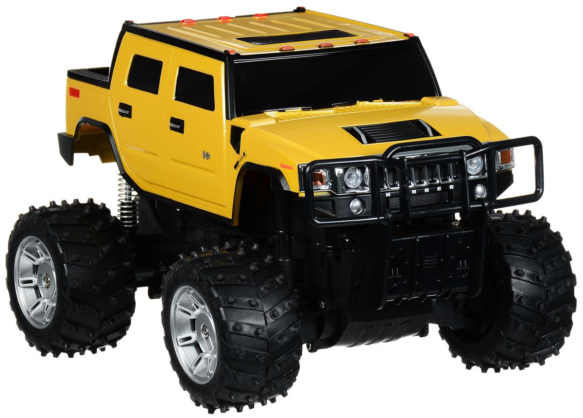 """Радиоуправляемая модель Rastar """"Hummer H2"""" станет отличным подарком любому мальчику! Все дети хотят иметь в наборе своих игрушек ослепительные, невероятные и крутые автомобили на радиоуправлении. Тем более, если это автомобиль известной марки с проработкой всех деталей, удивляющий приятным качеством и видом. Одной из таких моделей является автомобиль на радиоуправлении Rastar """"Hummer H2"""". Это точная копия настоящего авто в масштабе 1:14. Автомобиль отличается потрясающей маневренностью, динамикой и покладистостью. Возможные движения: вперед, назад, вправо, влево, остановка. Имеются световые эффекты. Пульт управления работает на частоте 27 MHz. Для работы игрушки необходим аккумулятор (входят в комплект). Для работы пульта управления необходима 1 батарейка 9V (6F22) (не входит в комплект)."""