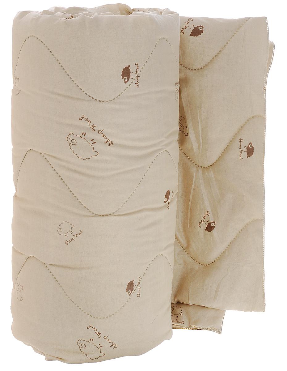 Одеяло Подушкино Овечье, наполнитель: шерсть, вискоза, 172 х 205 см68/4/5Одеяло Подушкино Овечье окутает вас своим теплом и нежностью. Чехол одеяла изготовлен из ткани нового поколения Биософт (полиэстер) с тиснением и бархатистой фактурой. Данный материал обладает повышенной износостойкостью и практичностью. Внутри - наполнитель из шерсти и вискозы. Натуральная шерсть стимулирует кровообращение и облегчает мышечные боли. Отличная терморегуляция, которая обеспечивает здоровый и комфортный сон.Материал чехла: биософт (100% полиэстер). Материал наполнителя: 40% шерсть, 60 вискоза. Рекомендации по уходу:- Ручная стирка при температуре 30°С. - Не гладить.- Не отбеливать. - Сушить при низкой температуре. - Химчистка.