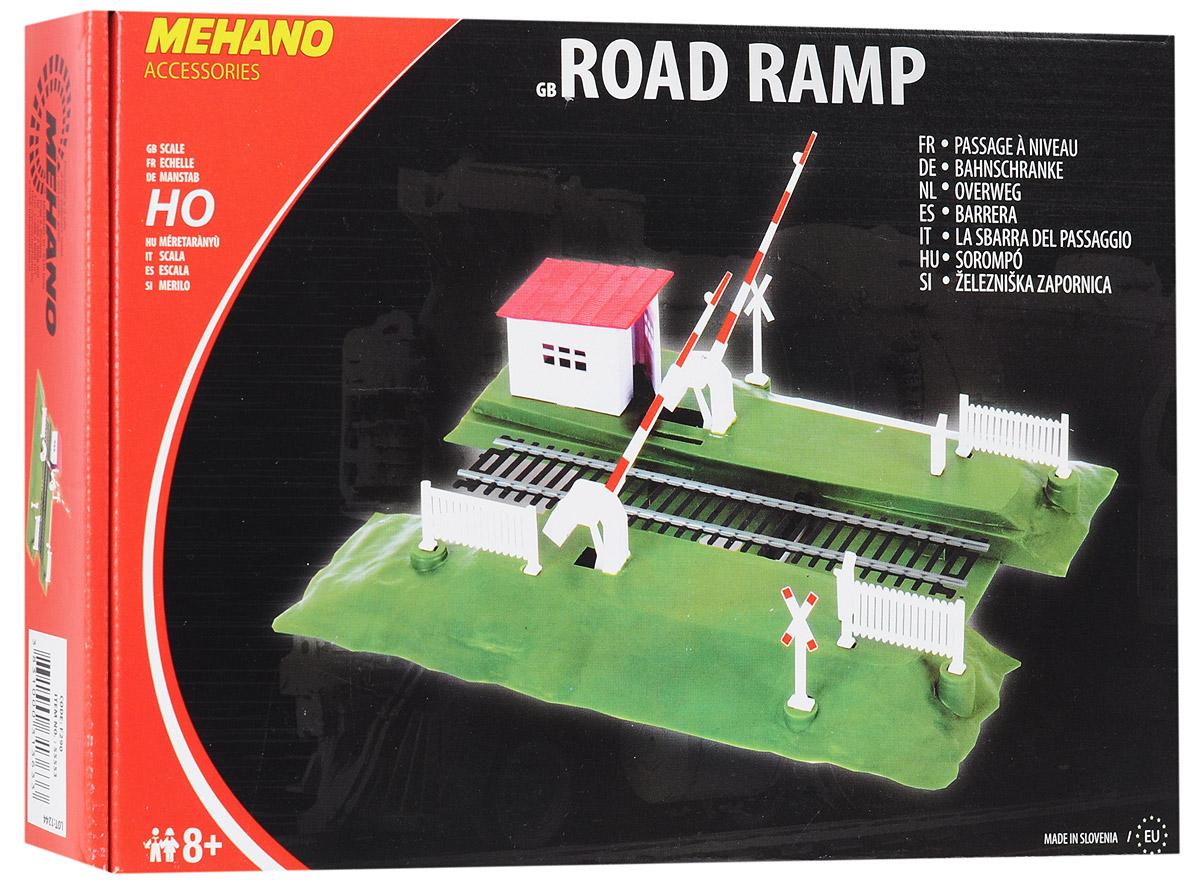 Железнодорожный переезд со шлагбаумом Mehano позволит вам проявить фантазию и дополнить свою железную дорогу небольшим железнодорожным переездом со шлагбаумом. Переезд со шлагбаумом выполнен из высококачественного прочного пластика в масштабе 1:87, он подходит для железной дороги с шириной колеи 16,5 мм. Шлагбаумы размещены на пластиковой платформе, переезд оформлен небольшими ограждениями и предупредительными знаками, а также кабинкой смотрителя. В комплект также входит комплект стикеров для оформления шлагбаума и знаков. Шлагбаумы опускаются механически, при помощи небольшого рычажка на платформе. Переезд совместим со всеми поездами и вагонами Mehano в масштабе 1:87, а также с другими элементами железнодорожных треков компании Mehano. Дополнительные элементы для железнодорожного трека Mehano станет незаменимым аксессуаром для вашей миниатюрной железной дороги. Играя с этим набором, юный машинист сможет строить новые станции, придумывать неповторимый, свой собственный...