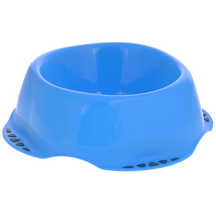 Миска для животных MPS Maya L, цвет: синий, 1 л0120710Миска MPS Maya выполнена из высококачественного пластика. Материал нетоксичный и не впитывает посторонние запахи, поэтому миска одинаково хорошо подойдёт как для корма, так и для питьевой воды. Снизу миски также предусмотрены прорезиненные подкладки, препятствующие её скольжению. Благодаря яркому и стильному дизайну миска отлично впишется в интерьер помещения. Подходит для кошек, собак, хорьков, кроликов, морских свинок.Диаметр (по верхнему краю): 17 см.Высота: 8 см.Объём: 1 л.Вес: 177 г.Товар сертифицирован.