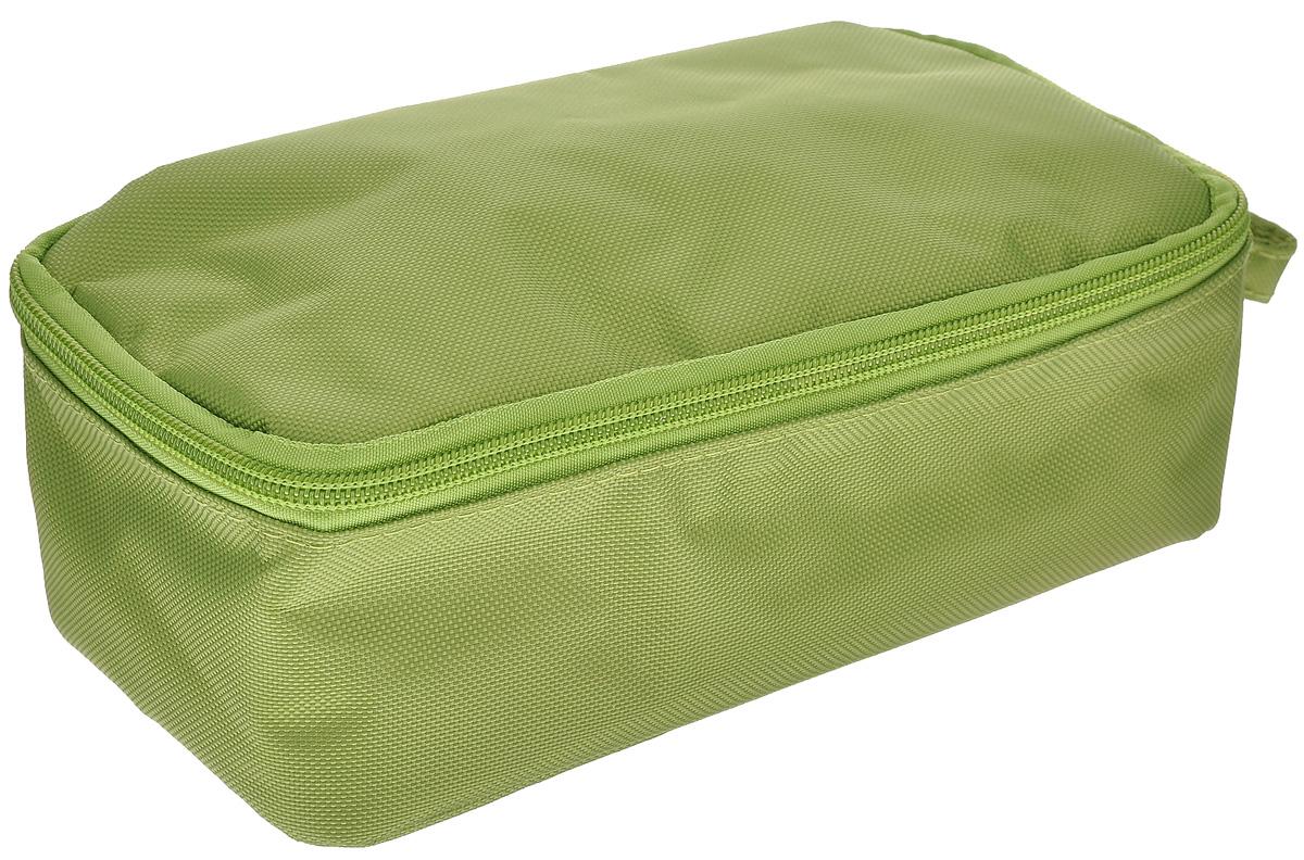Термоланчбокс Iris Barcelona Nano Cooler, цвет: зеленыйVT-1520(SR)Термоланчбокс Iris Barcelona Nano Cooler представляет собой вместительную сумку, с внешней стороны отделанную высококачественным полиэстером. Имеет одно вместительное отделение и закрывается на застежку-молнию. Внутренняя поверхность отделана специальным изотермическим материалом, сохраняющим температуру пищи (холодную или горячую). Имеется сетчатый кармашек для столовых приборов, напитков и салфеток.