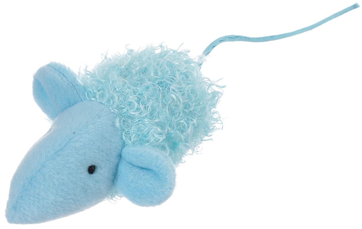 Игрушка для кошек V.I.Pet Мышка, с мятой, цвет: голубой0120710Мягкая игрушка для кошек V.I.Pet Мышка выполнена из текстиля. Играя с этой забавной игрушкой, маленькие котята развиваются физически, а взрослые кошки и коты поддерживают свой мышечный тонус. Изделие выполнено в виде мыши. В наполнитель игрушки добавлена кошачья мята. Кошачья мята - растение, запах которого делает кошку более игривой и любопытной. С помощью этого средства кошка легче перенесет путешествие на автомобиле, посещение ветеринарного врача, переезд на новую квартиру.