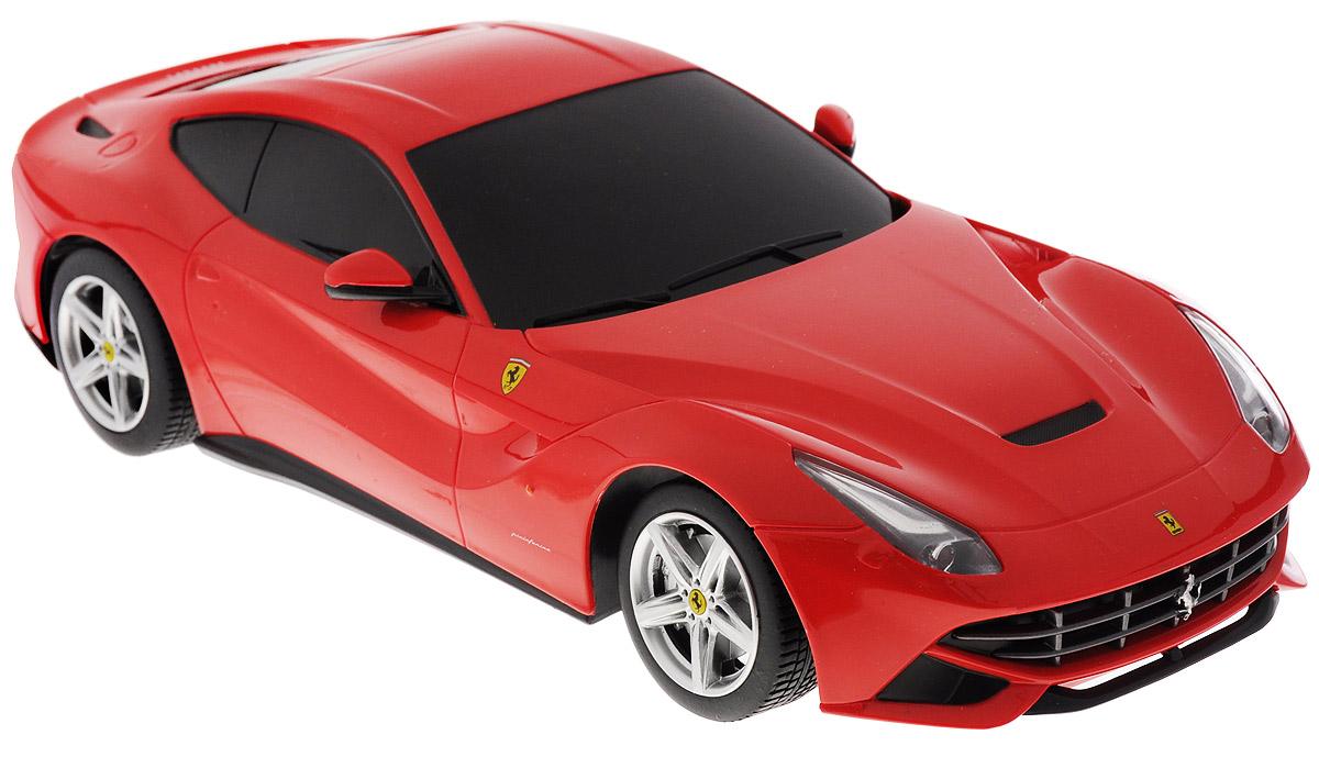 """Радиоуправляемая модель Rastar """"Ferrari F12 Berlinetta"""" станет отличным подарком любому мальчику! Все дети хотят иметь в наборе своих игрушек ослепительные, невероятные и крутые автомобили на радиоуправлении. Тем более, если это автомобиль известной марки с проработкой всех деталей, удивляющий приятным качеством и видом. Одной из таких моделей является автомобиль на радиоуправлении Rastar """"Ferrari F12 Berlinetta"""". Это точная копия настоящего авто в масштабе 1:18. Пульт управления выполнен в виде руля с переключателем коробки передач. Возможные движения: вперед, назад, вправо, влево, остановка. Пульт управления работает на частоте 40 MHz. Для работы игрушки необходимы 4 батарейки типа АА (не входят в комплект). Для работы пульта управления необходимы 3 батарейки типа АА (не входят в комплект)."""