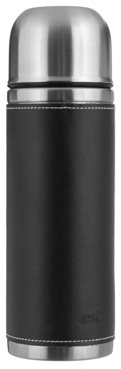 Термос Emsa Senator Class, цвет: черный, 0,5 лVT-1520(SR)Простая и гармоничная форма термоса Emsa Senator Class, выполненного из стали, удовлетворит желания любого потребителя. Внешняя сторона изделия одета в кожаный чехол, что позволяет надежно держать его в руках. Термос оснащен герметичным клапаном и крышкой, которую можно использовать в качестве стакана, а благодаря системе высококачественной вакуумной изоляции он сохранит ваши напитки горячими или холодными надолго. Диаметр горлышка термоса: 5 см.Диаметр дна термоса: 7 см.Высота термоса (с учетом крышки): 23,5 см.Сохранение холодной температуры: 24 ч.Сохранение горячей температуры: 12 ч.