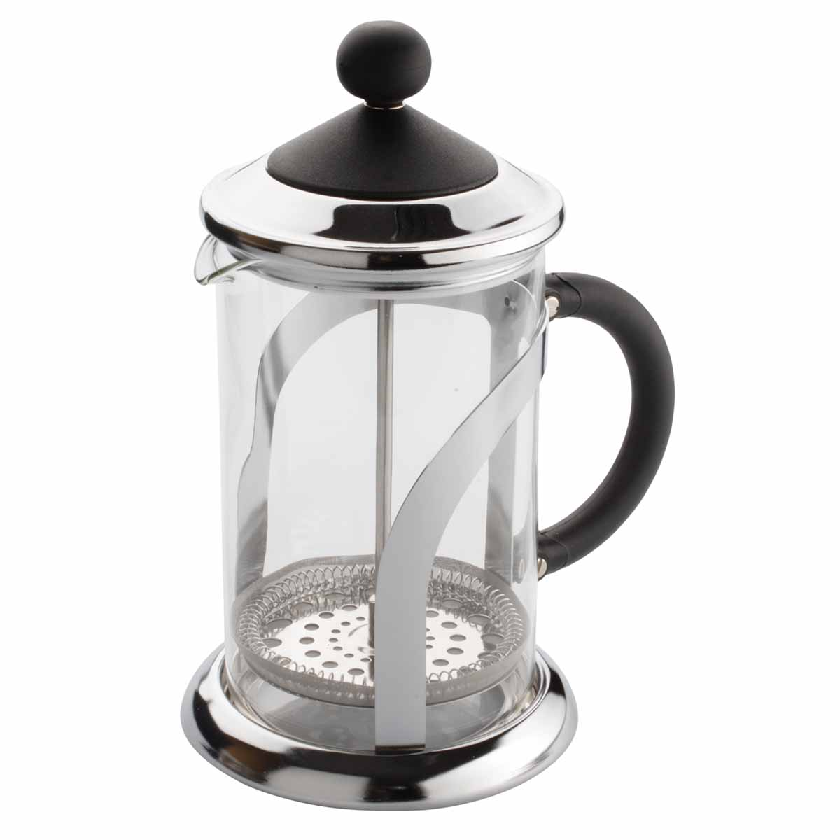 Френч-пресс Dekok, 800 мл. CP-101854 009312Френч-пресс Dekok представляет собой гибрид заварочного чайника и кофейника. Колба выполнена из жаропрочного стекла, корпус, крышка и поршень изготовлены из нержавеющей стали. Изделие легко разбирается и моется. Прозрачные стенки френч-пресса дают возможность наблюдать за насыщением напитка, а поршень позволяет с легкостью отжать самый сок от заварки и получить напиток с насыщенным вкусом. Конструкция носика антикапля удобна для разливания напитков в чашки. Френч-пресс Dekok займет достойное место среди аксессуаров на вашей кухне. Не рекомендуется мыть в посудомоечной машине. Диаметр (по верхнему краю): 9,5 см. Высота чайника (с крышкой): 23 см.