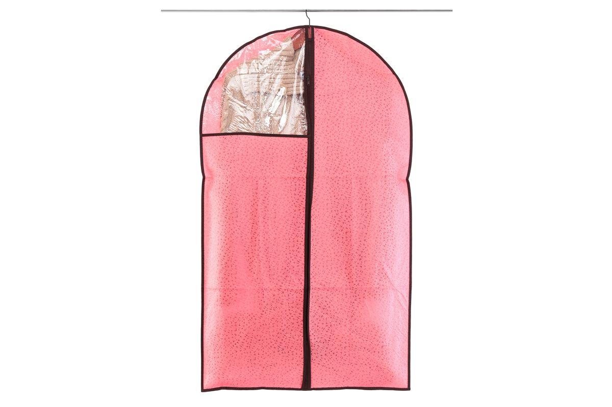 Чехол для одежды El Casa Звезды, подвесной, цвет: розовый, 60 х 100 смS03301004Подвесной чехол для одежды El Casa Звезды изготовлен из высококачественного нетканого материала, который обеспечивает естественную вентиляцию, позволяя воздуху проникать внутрь, но не пропускает пыль. Чехол очень удобен в использовании, а благодаря его форме, одежда не мнетсядаже при длительном хранении. Специальная прозрачная вставка позволяет видеть содержимое внутри чехла, не открывая его. Изделие легко открывается и закрывается застежкой-молнией. Чехол для одежды будет очень полезен при транспортировке вещей на близкие и дальниерасстояния, при длительном хранении сезонной одежды, а также при ежедневном хранениивещей из деликатных тканей.