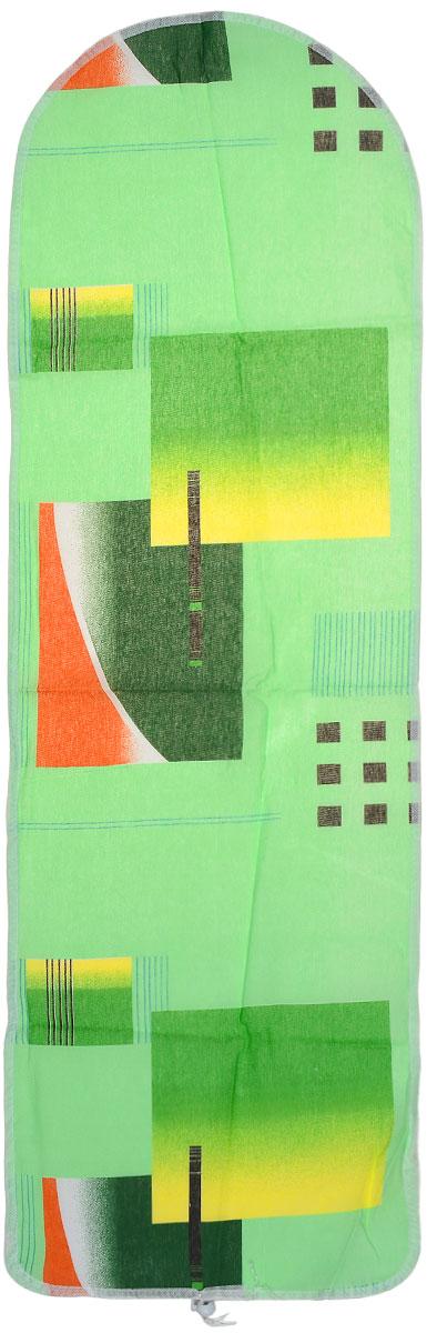 Чехол для гладильной доски Eva Detalle, цвет: зеленый, желтый, 120 х 37 смMW-3101Чехол для гладильной доски Eva Detalle, выполненный из хлопка с подкладкой из мягкого войлока, предназначен для защиты или замены изношенного покрытия гладильной доски. Из войлочного полотна вы можете вырезать подкладку любого размера, подходящую именно для вашей доски. Чехол препятствует образованию блеска и отпечатков металлической сетки гладильной доски на одежде. Этот качественный чехол обеспечит вам легкое глажение. Размер чехла: 120 см x 37 см.Размер войлочного полотна: 130 см х 52 см. Размер доски, для которой предназначен чехол: 115 см x 32 см.