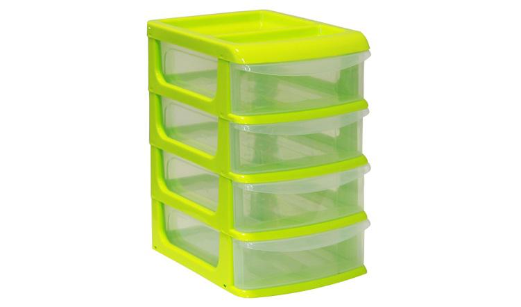 Бокс универсальный Idea, 4 секции, цвет: салатовый, 20 см х 14,5 см х 23 смМ 2764_салатовыйУниверсальный бокс Idea выполнен из высококачественного пластика и имеет четыре удобные выдвижные секции. Бокс предназначен для хранения предметов шитья, рукоделия, хобби и всех необходимых мелочей. Изделие позволит компактно хранить вещи, поддерживая порядок и уют в вашем доме.Размер секции: 20 х 14 х 4,8 см.