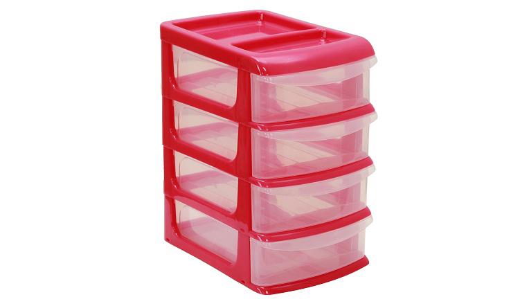 Бокс универсальный Idea, 4 секции, цвет: малиновый, 34 см х 25 см х 36 смМ 2768_малиновыйУниверсальный бокс Idea выполнен из высококачественного пластика и имеет четыре удобные выдвижные секции. Бокс предназначен для хранения предметов шитья, рукоделия, хобби и всех необходимых мелочей. Изделие позволит компактно хранить вещи, поддерживая порядок и уют в вашем доме.Размер секции: 32 см х 24 см х 7,5 см.